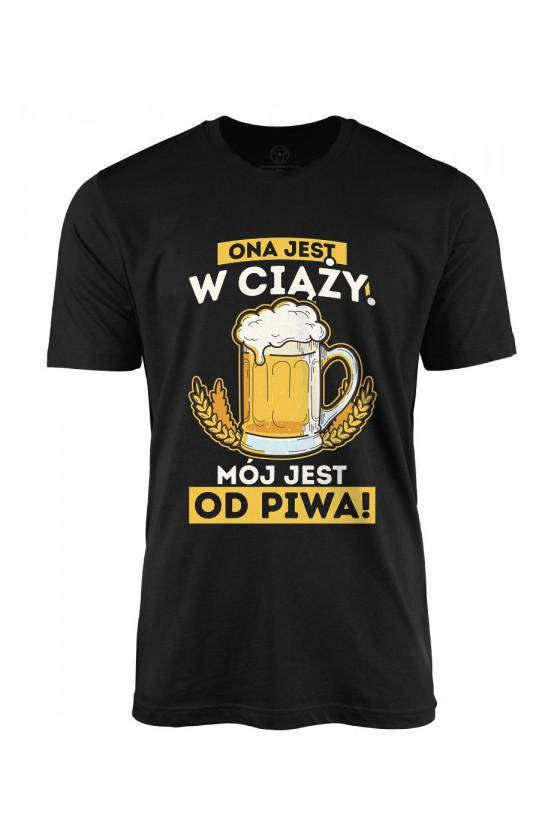 Koszulka męska Ona Jest w ciąży Mój jest od piwa