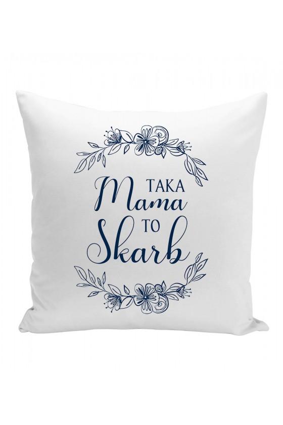 Poduszka Dla Mamy - Taka Mama to Skarb - Niebieskie