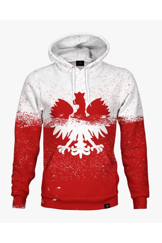 Bluza bawełniana Polska Biało-czerwoni
