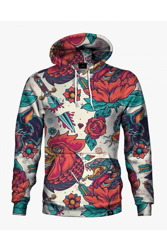 Bluza bawełniana z Różami - Tattoo