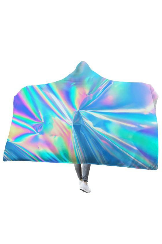 Koc z kapturem Hologram Foil