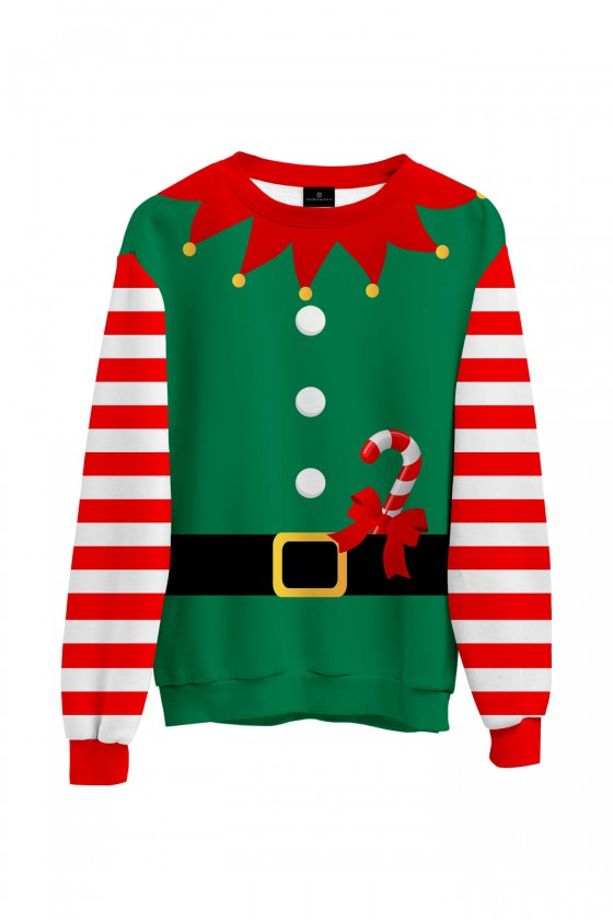 Świąteczna bluza Strój świątecznego elfa