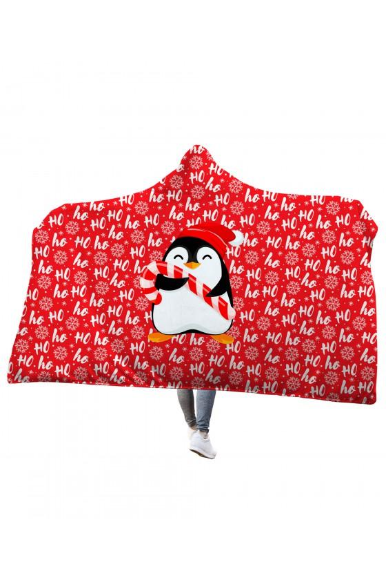 Koc z kapturem Pingwinek HOHO!