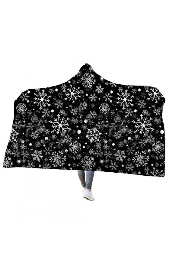 Koc z kapturem Pruszący śnieg