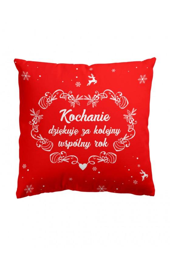 Poduszka Premium Kochanie, dziękuję za kolejny rok (czerwona)
