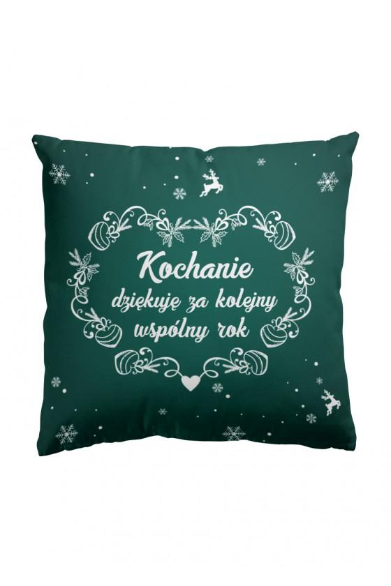 Poduszka Premium Kochanie, dziękuję za kolejny rok (zielona)