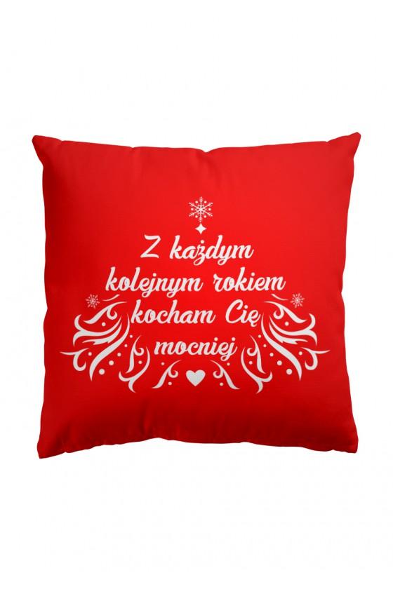 Poduszka Premium Z każdym rokiem kocham cię mocniej (czerwona)