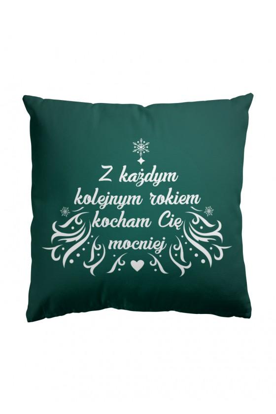 Poduszka Premium Z każdym rokiem kocham cię mocniej (zielona)