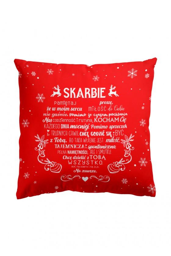 LIMITOWANA Świąteczna Poduszka Premium Wyznanie w kształcie serca