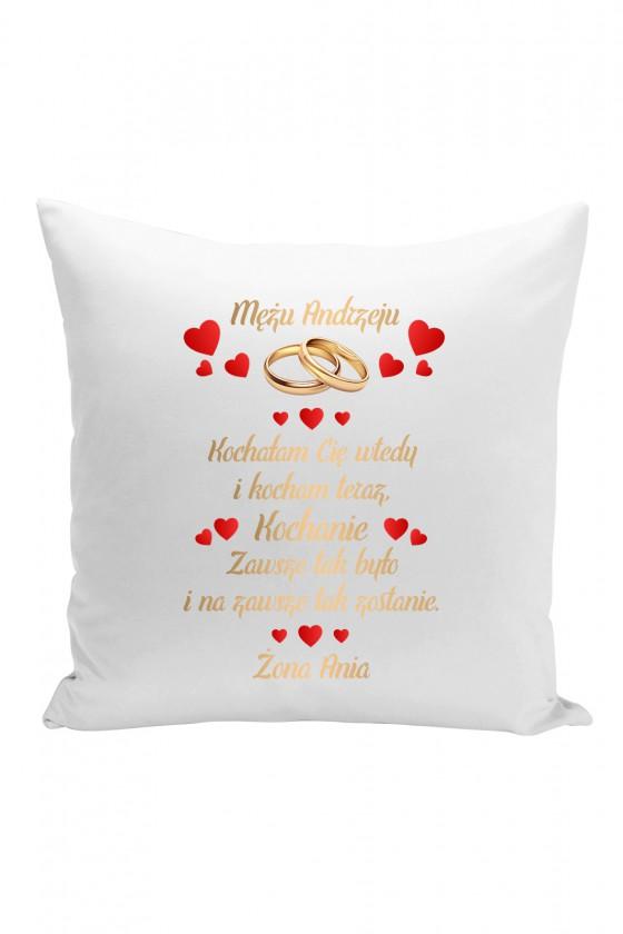 Poduszka Na prezent dla Męża z imieniem - złota wersja
