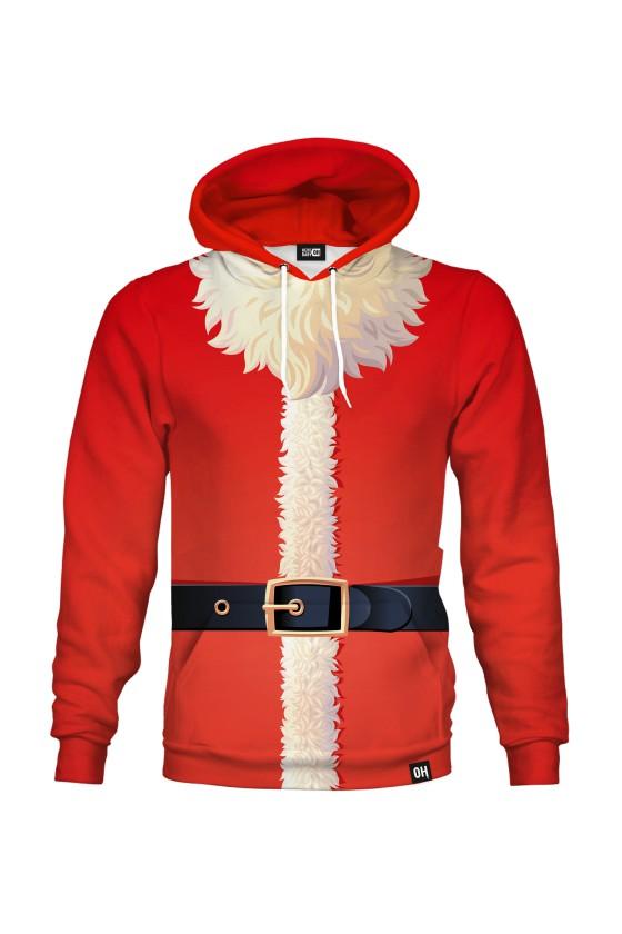 Świąteczna bluza z kapturem Strój Mikołaja