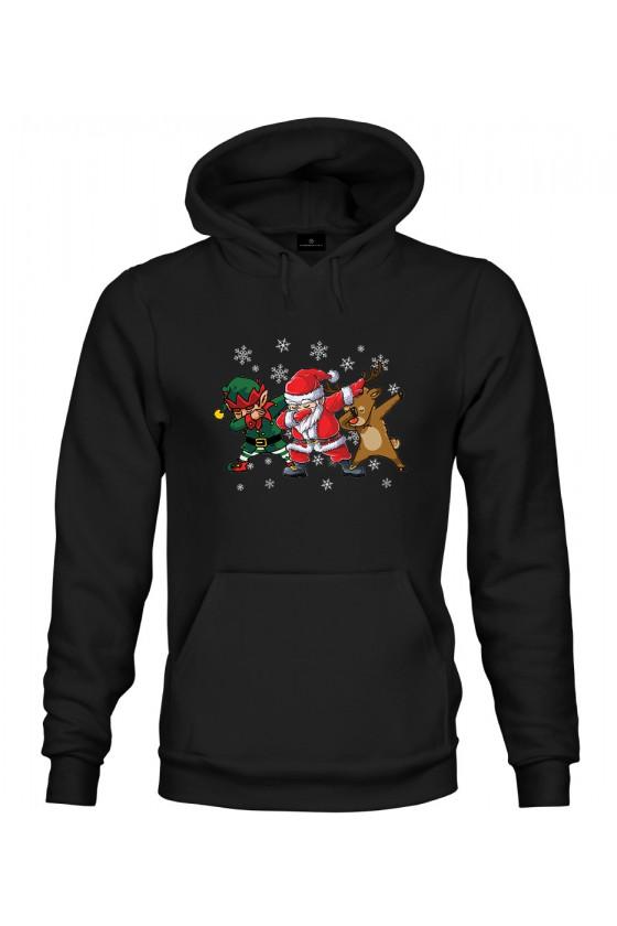 Bluza z kapturem Dabbing Santa