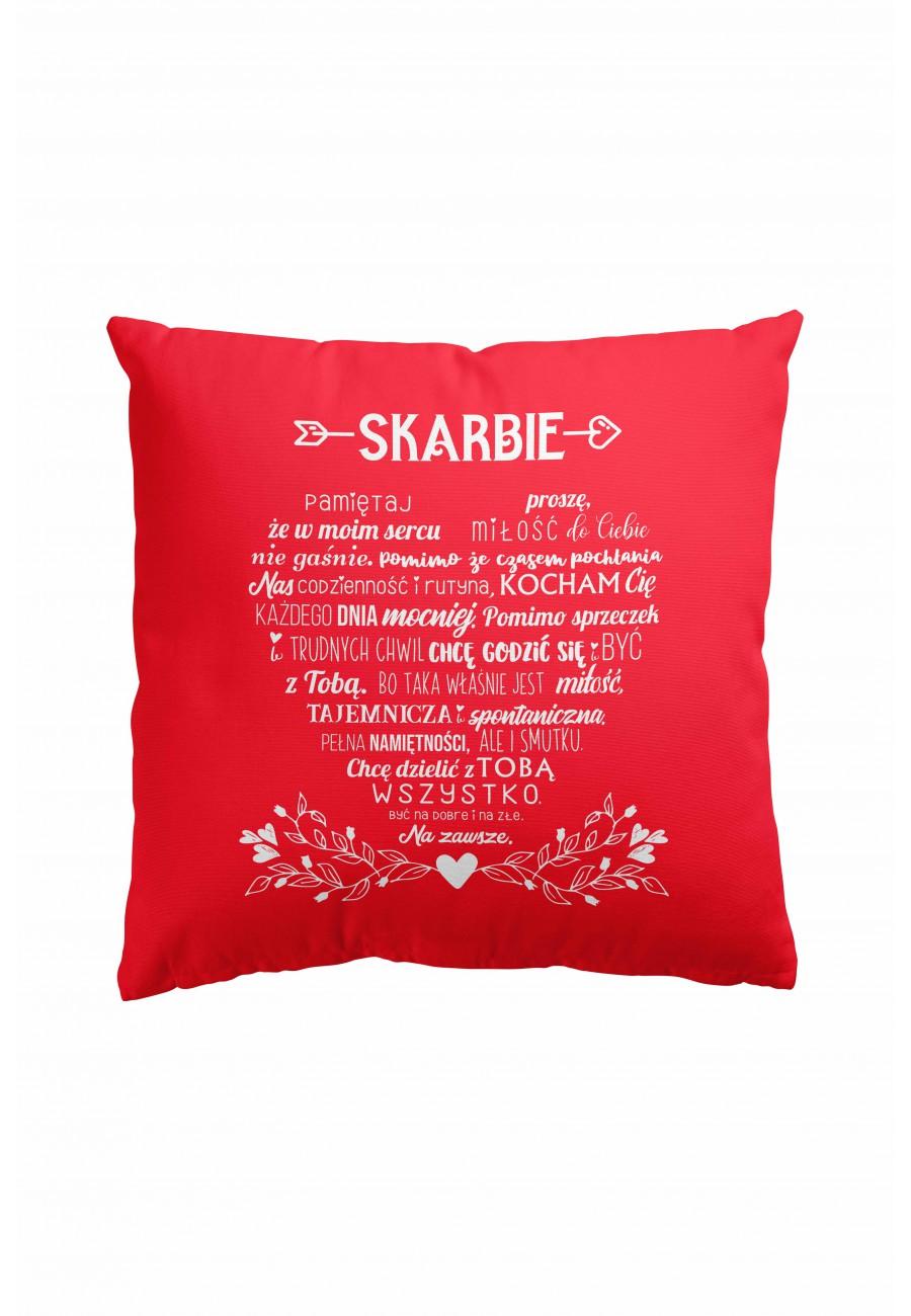 Poduszka premium - Miłosne wyznanie w kształcie serca + Zdjęcie
