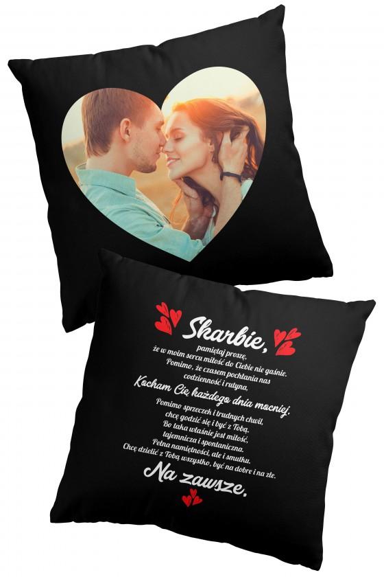 Poduszka premium - Miłosne wyznanie + Zdjęcie