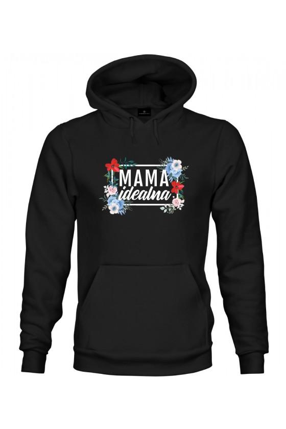 Bluza z kapturem Mama Idealna - modny print