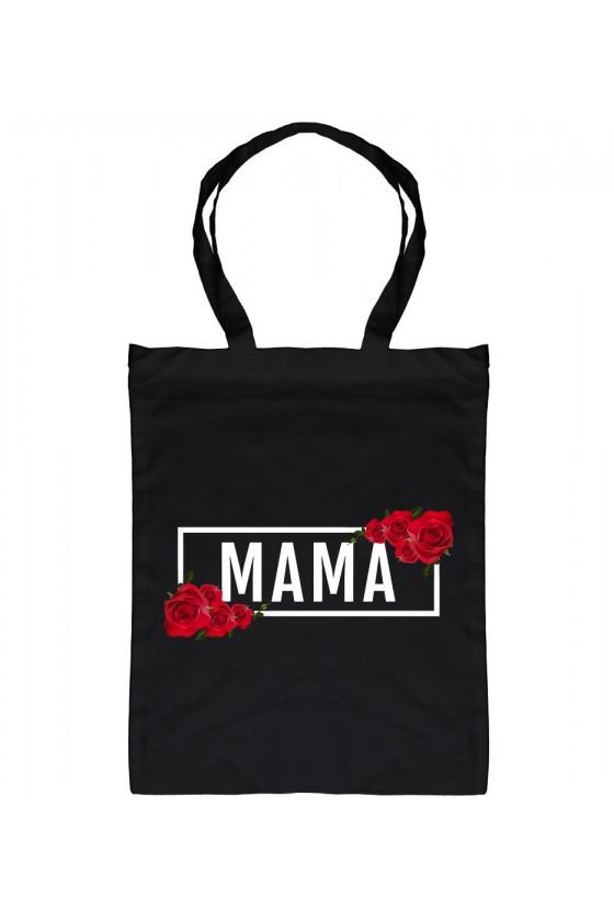 Torba Bawełniana MAMA - modny print róże